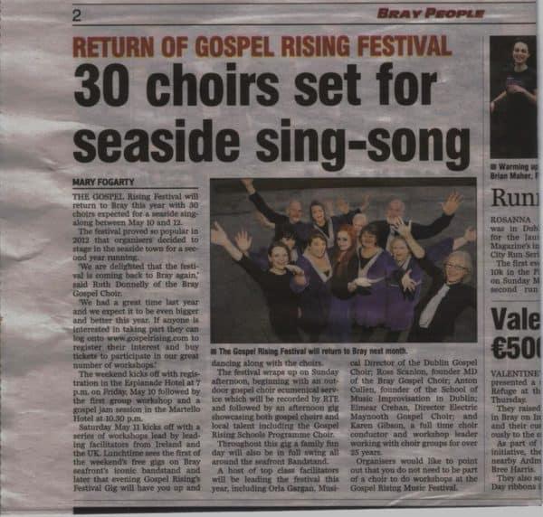 Singing at the Sea - Bray Gospel Choir | Singsician